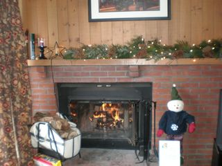 Mount Snow condo photo - Snuggle Up By The Fire & Enjoy Mt. View