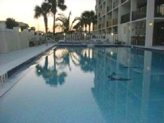 Cocoa Beach condo photo - Beach Side Pool with Hot Tub and Sauna