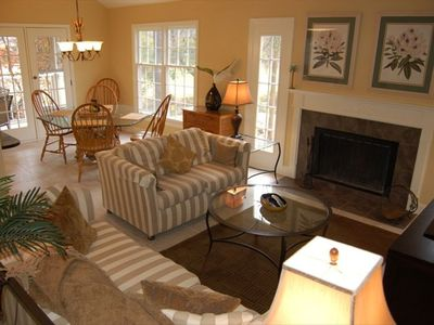 Family Room with vaulted ceilings and an airy, spacious feel!