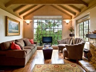 Carmel cottage photo - Living area with fire place