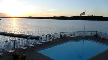 The Ledges Lakeside Pool on the Point of the Property offers great views