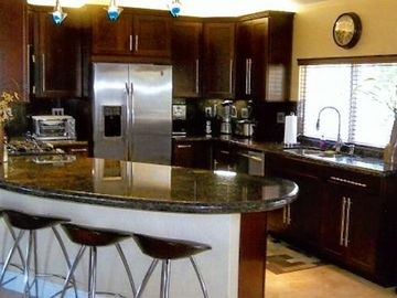 Palm Springs house rental - State of the art kitchen. Fully equipped kitchen with gas convection oven
