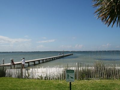 Pensacola Beach condo rental - Private pier for Baywatch Condos