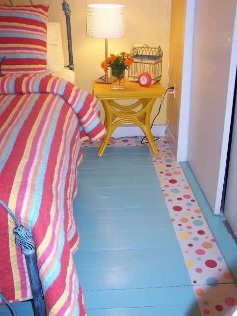 Sassy Hand-Painted Floors.