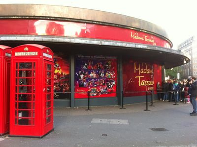 Madame Tussauds famous waxworks is very popular and is just around the corner