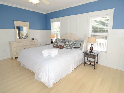 Seagrove Beach house rental - Master bedroom with king size bed and attached bathroom.