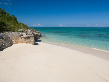 Providenciales - Provo villa rental - Our very own private beach just steps away from your private luxury villa,
