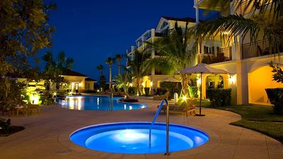 Providenciales - Provo condo rental - View of Hot Tub and Pool #1