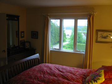 View of harbor from master bedroom