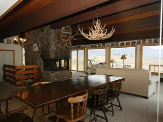 Jackson Hole house photo - Living Room with Grand Teton Panoramic Views - View of the Grand Teton and Teton Range from the Living Room.