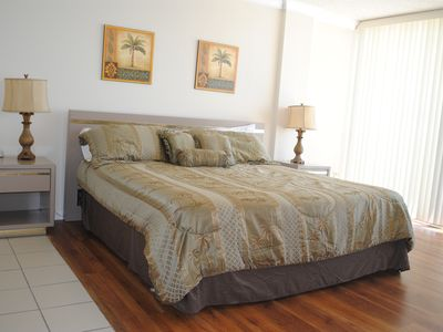 Master Bedroom~King Sized Bed with BRAND new mattresses!