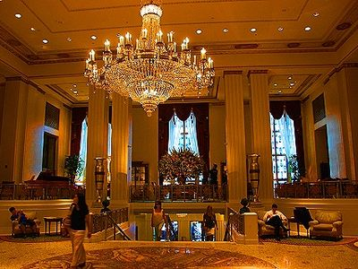 The Waldorf Astoria Main Lobby down is where the President stays in NY City