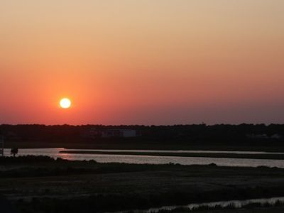 Sunset Over Intracoastal Waterway from Deck