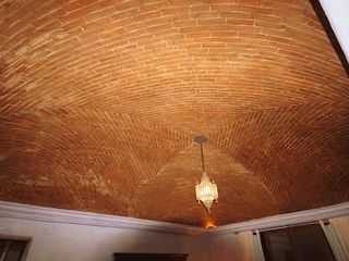 San Miguel de Allende villa photo - Ceiling Candy - curved brick ceiling makes lying in bed extra fun!
