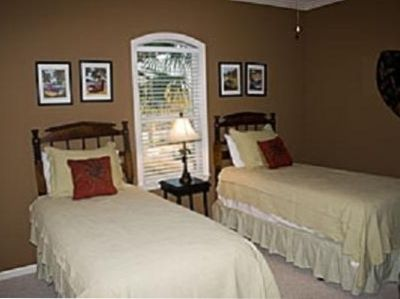 Third Bedroom on second floor has 2 twin beds