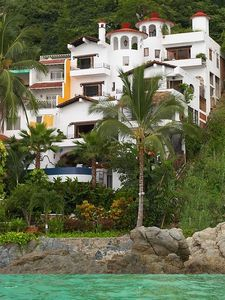 Puerto Vallarta villa rental - Yes, you get the whole Villa, All Levels - Secluded Sandy Beach to left