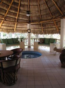 Your magnificent PALAPA. It catches the breezes and channels them to the house.