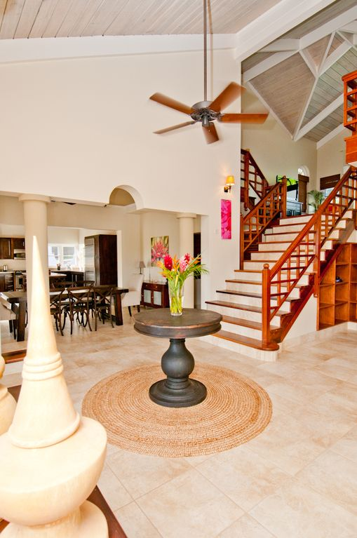 Stairs to Family TV Room