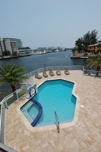 Great Pool Area ..Fishing and 100 foot Boat Dock!