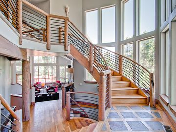 Weisshorn Breckenridge house rental - The elegant staircase and natural light ensure that you always make a grand entrance.