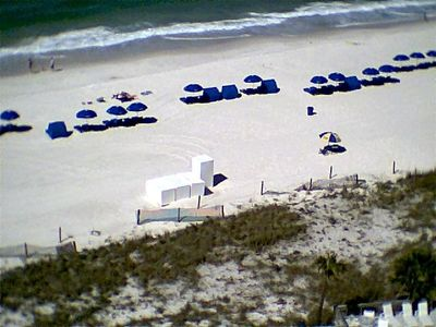 view from balcony of the beach