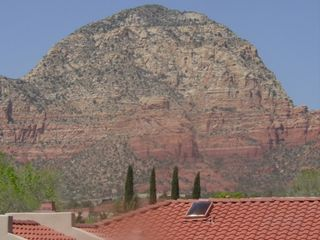 Sedona condo photo - Spectacular View of Capital Butte from Our Patio