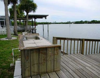 fish cleaning station and dock area