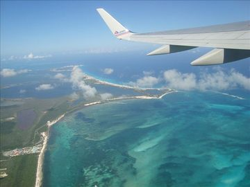 Flying out of the Cancun Airport. Sit on the left window side of the plane.