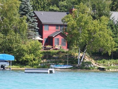 House from the lake--the water really is that color!