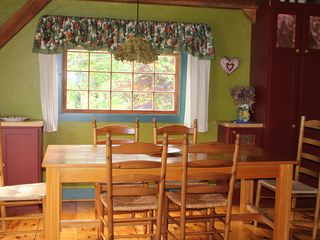 Gayhead - Aquinnah house photo - Dining Area has seating for 8, breakfast bar seats 2