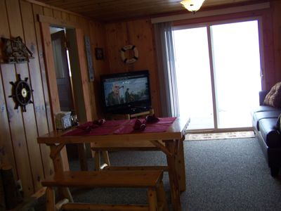 Living area into deck.....