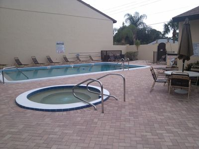 Heated pool, hot tub, and Club house