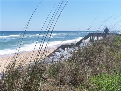 Beautiful Flagler Beach right outside your door. Great fishing and surfing await