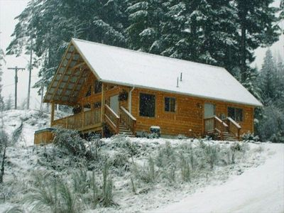 Looking for that perfect winter snowy cabin in the woods? This is it!