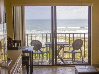 Views of the Ocean from the living area and private balcony