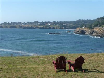 View Historic Mendocino Village across the Bay