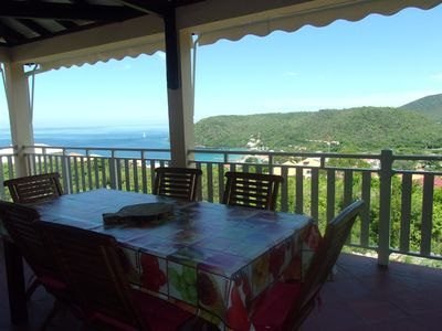Villa situated 400m from the town with stunning views of the beach and jetty