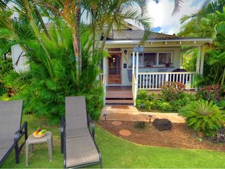 Poipu house photo - Great front yard, with 2 lounge chairs