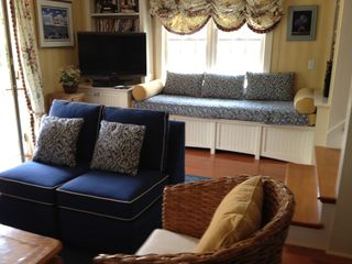 Surfside Nantucket house photo - Living room with window seat