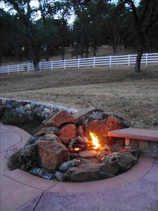 The gas fire pit is easy to use and sooooo romantic to sit by