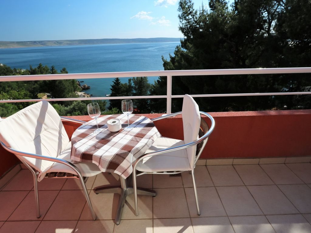 CANDELA No. 5 Sea view - private beach panorama terrace at Paklenica National Park