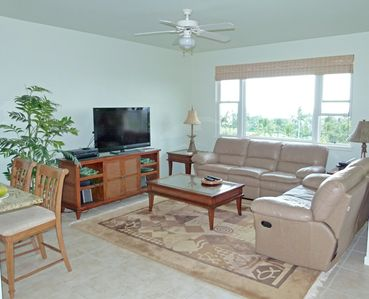 The family room is very comfortably furnished and includes HD TV.