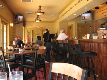The clubhouse offers an on site restaurant.