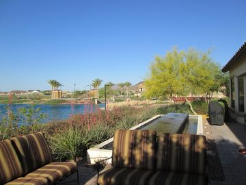 Buckeye bungalow rental - View of Outside Pool and Village Center from Patio