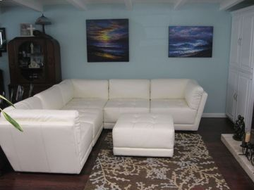 Family Room with Sectional Furniture, 42 inch flat screen TV