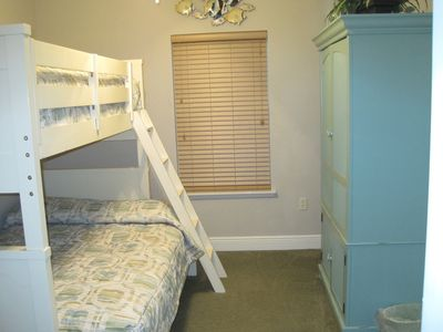 Bedroom with Bunkbeds sleeping 3 comfortably