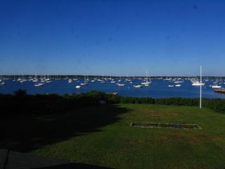 Mattapoisett house photo - Mattapoisett Harbor. Our private beach below the flag pole and hedge