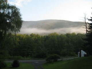 Shandaken cabin photo - Early morning view from porch.