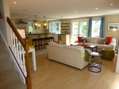 Biddeford Pool house rental - Newly renovated, bright open floor plan. Kitchen, living room opens to deck.