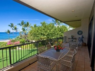 Makena Surf A203 1st floor Lanai with Ocean Front Views